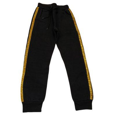 Παντελόνι φόρμας μαύρο με χρυσή ρίγα