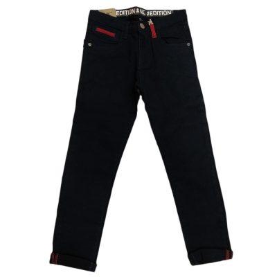 Παντελόνι μπλε με κόκκινες λεπτομέρειες