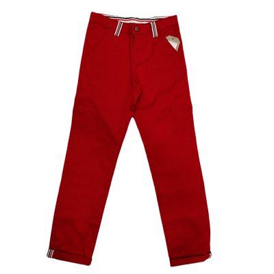 Παντελόνι κόκκινο με λεπτομέρειες