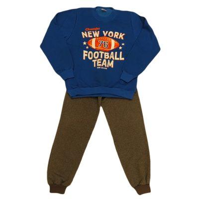 Φόρμα football team μπλε ρουά -γκρι σκούρο παντελόνι