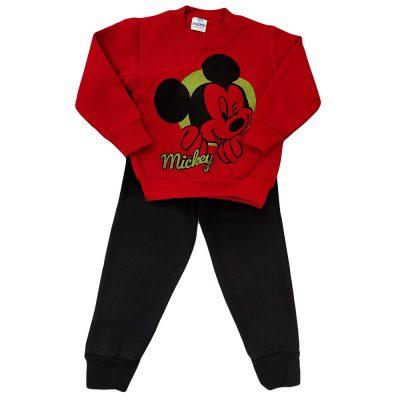 Φόρμα μίκυ κόκκινο(πράσινο)-μαύρο παντελόνι