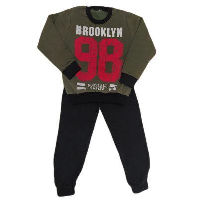 Φόρμα brooklyn 98 χακί-κόκκινο