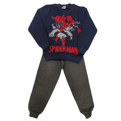 Φόρμα spiderman μπλε- γκρι σκούρο