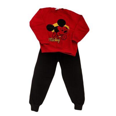 Φόρμα μίκυ κόκκινο (κίτρινο) - μαύρο παντελόνι