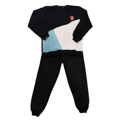 Φόρμα τρίχρωμη μαύρη-λευκή-γαλάζια