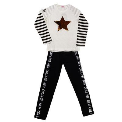 Μπλουζοφόρεμα αστέρι με κολάν