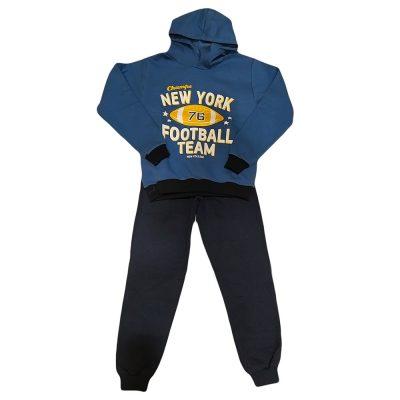 Φόρμα football team μπλε ραφ με κουκούλα