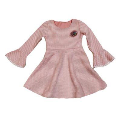 Φόρεμα ροζ ριγέ