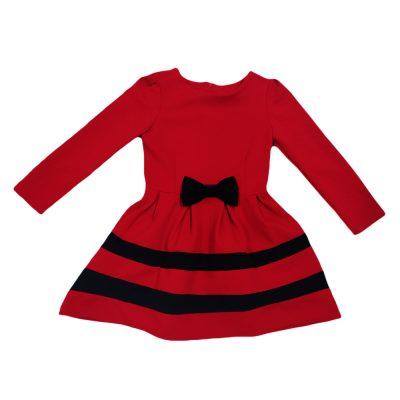 Φόρεμα κόκκινο με φιόγκο