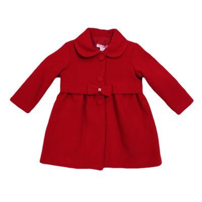 Παλτό κόκκινο με φιόγκο new college