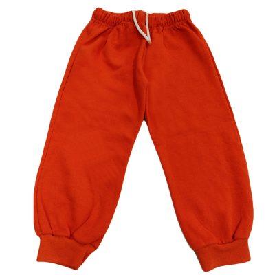 Παντελόνι φόρμας πορτοκαλί με κορδόνι