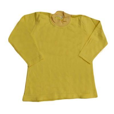 Μπλούζα μονόχρωμη κίτρινη