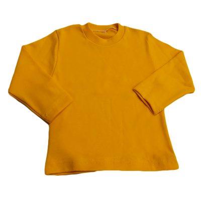 Μπλούζα μονόχρωμη σε κίτρινο σκούρο