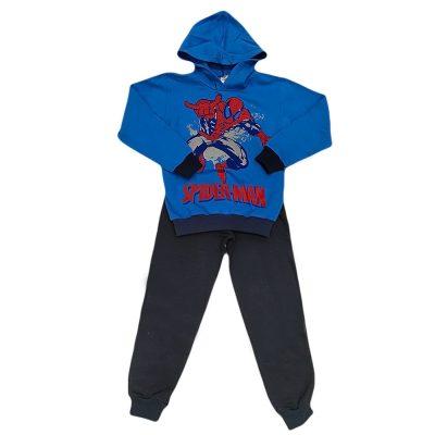 Φόρμα spiderman μπλε ρουά με κουκούλα