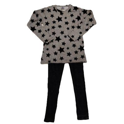 Μπλουζοφόρεμα αστέρια και βελουτέ κολάν