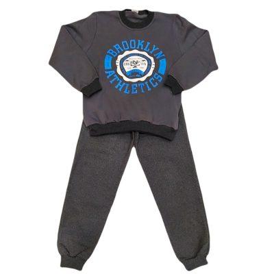 Φόρμα brooklyn athletics γκρι σετ (μπλε)