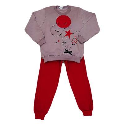 Φόρμα μπαλονάκια μωβ-κόκκινο
