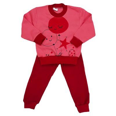 Φόρμα μπαλονάκια ροζ έντονο/κόκκινο