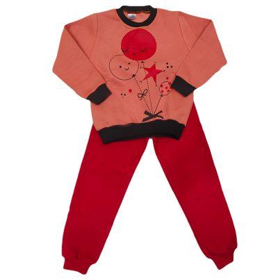 Φόρμα μπαλονάκια ροδακινί-κόκκινο
