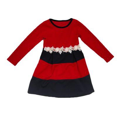 Φόρεμα κόκκινο/μπλε ριγέ