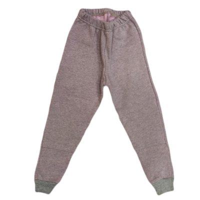 Παντελόνι φόρμας γκρι με ροζ ύφανση