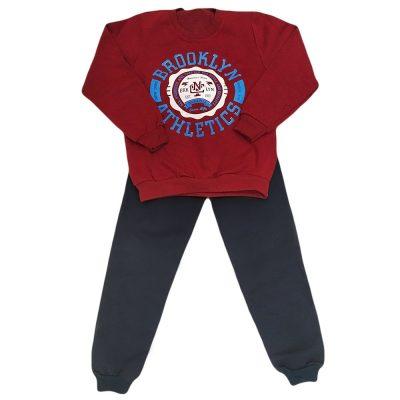 Φόρμα brooklyn athletics μπορντό(μπλε)
