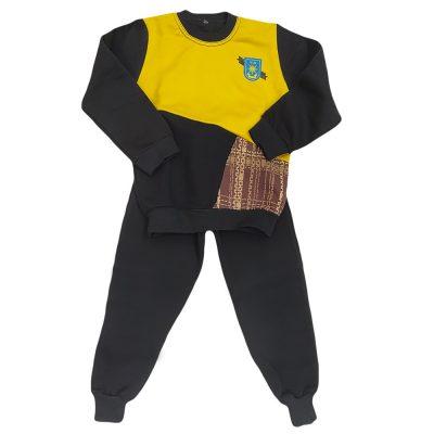 Φόρμα τρίχρωμη μαύρο κίτρινο καρό