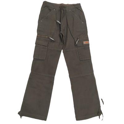 Παντελόνι καφε/λαδί με τσέπες