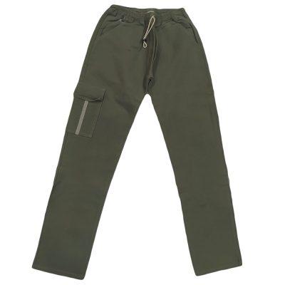 Παντελόνι λαδί με λάστιχο