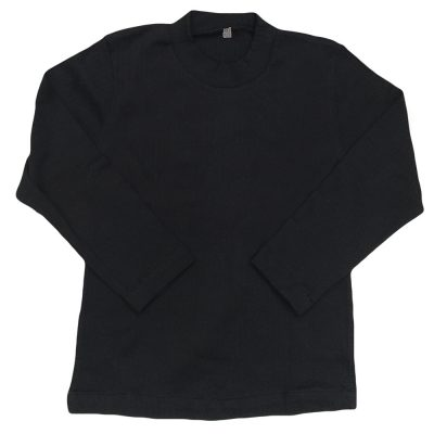 Μπλούζα μονόχρωμη μαύρη