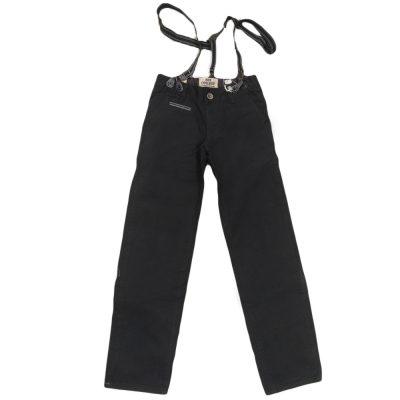 Παντελόνι μαύρο τιράντες