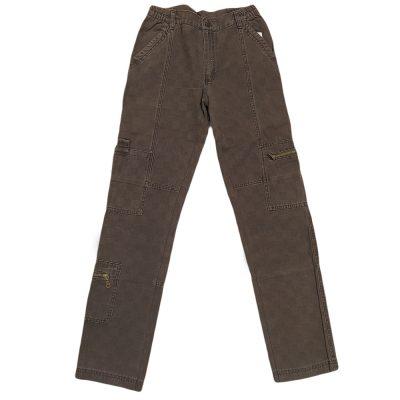 Παντελόνι καφέ σκούρο με πλαινά τσεπάκια