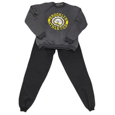 Φόρμα brooklyn athletics γκρι(κίτρινο) μαύρο