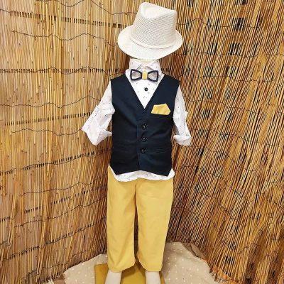 Βαπτιστικό κοστούμι Makis Tselios μπλε-κίτρινο