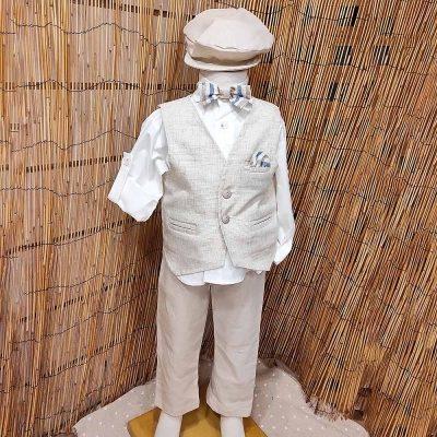 Βαπτιστικό κοστούμι Makis Tselios εκρού