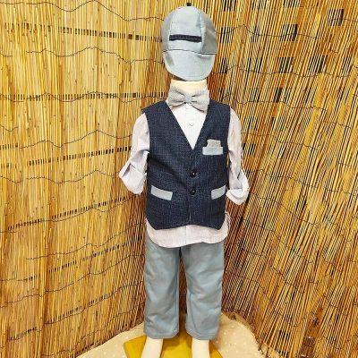 Βαπτιστικό κοστούμι Makis Tselios γαλάζιο