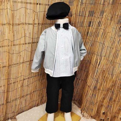 Βαπτιστικό κοστούμι Makis Tselios με λεπτό μπουφανάκι