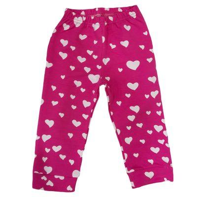 Παντελόνι φόρμας φουξ με καρδιές
