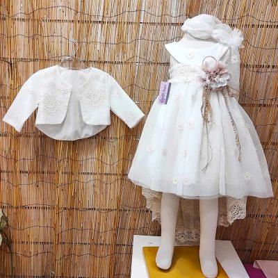 Βαπτιστικό φόρεμα Marilli's House με ουρά