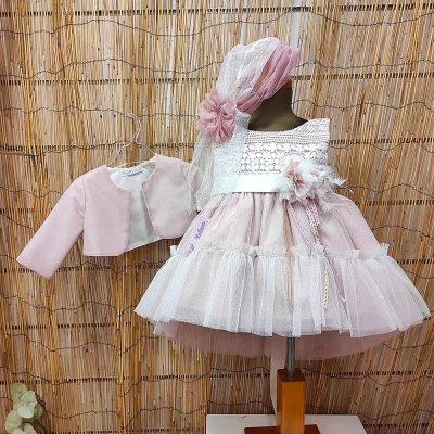 Βαπτιστικό φόρεμα Marilli's House ροζ ασημί