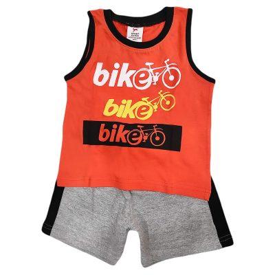 Σετ μακό αμάνικο bike πορτοκαλί-γκρι