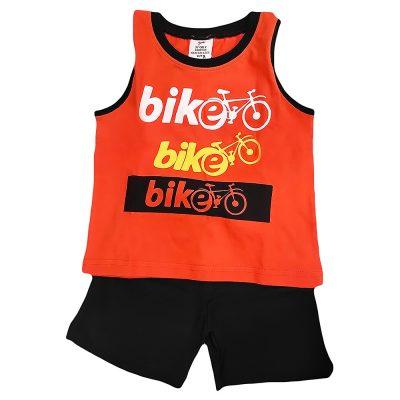 Σετ μακό αμάνικο bike πορτοκαλί-μαύρο