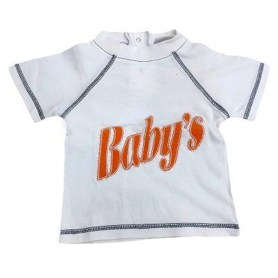Μπλούζα λευκή-πορτοκαλί baby