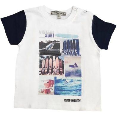 Μπλούζα λευκή-μπλε surf