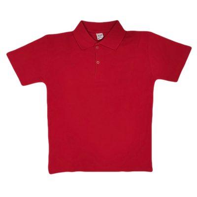 Μπλούζα κόκκινη πικέ με γιακά
