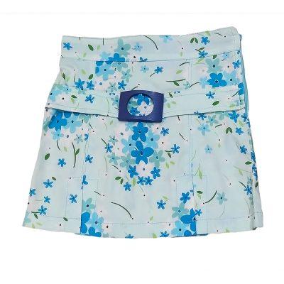 Φούστα γαλάζια με λουλουδάκια
