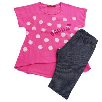 Μπλουζοφόρεμα ροζ πουα