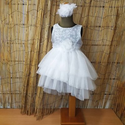 Βαπτιστικό φόρεμα Makis Tselios λουλουδάκια