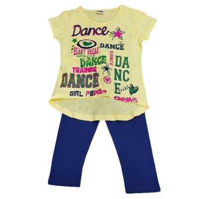 Μπλουζοφόρεμα dance κίτρινο-μπλε