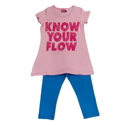 Μπλουζοφόρεμα know your flow ροζ